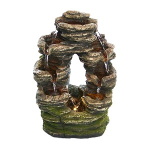 "14"" Oval Shaped Rock Fountain"