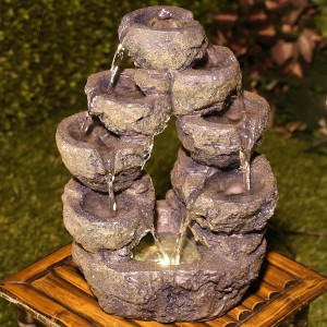 "14"" 5 Tired Cascading LED Fountain"