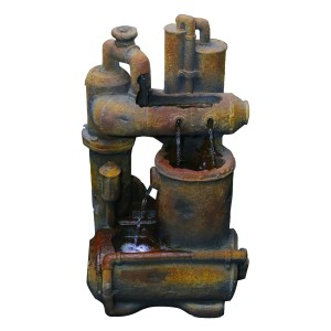 Rustic Pipes Fountain