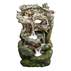 "40"" Rainforest Waterfall Fountain w/ LED Light"