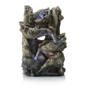 """14"""" Tall Tiered Log Fountain"""