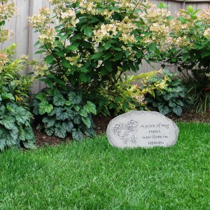 "10"" Paws to Remember Dog Memorial Stone Décor"