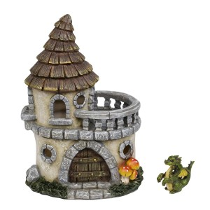 Castle of Dreams Fairy House w/ Dapper Dragon Figurine