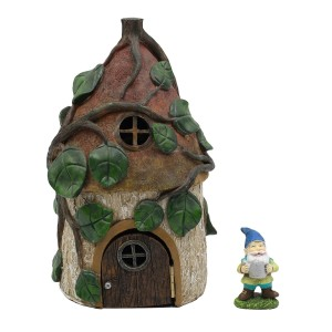 Leafy Fairy House w/Solar with Accessory