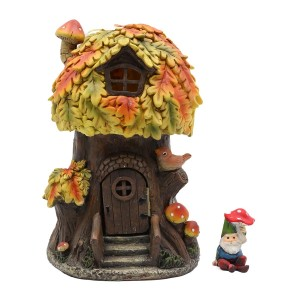 Resin Fairy House w/Solar with Accessory