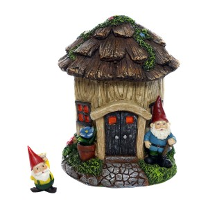 Stump's Estate Fairy House w/ Digger Gnome Figurine
