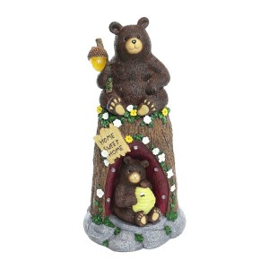 """12"""" Bear Statue with Color Changing LED Lights"""