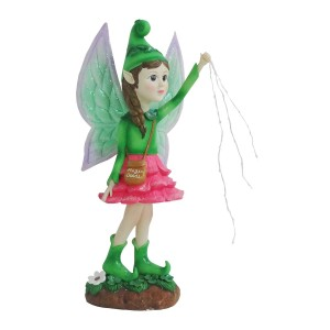 "23"" Solar Titania Fairy Statue with LED Lights and Magic Dust"