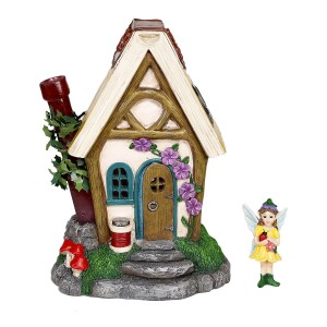"10"" Cuddle Nest Fairy House with Accessory"