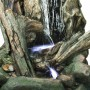 "79"" Tall Grand Log Waterfall Fountain with LED Lights"