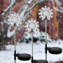 Solar Snowflake Garden Stake with LED Light