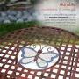 Metal Colorful Butterflies Bistro Set