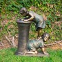"""27"""" Tall Boy and Girl Drinking Water Fountain with LED Light"""