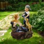 """28"""" Boy Washing Girls Hands Fountain with LED Lights"""