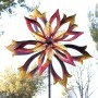 "96"" Double-Sided Flame Spinning Garden Stake"