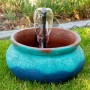"9"" Blue Round Garden Fountain"