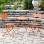Branches Metal 3 piece Orange Bistro Set