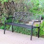 """50"""" Scrolling Hearts Park Bench"""