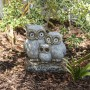 """16"""" Solar Owl Family Welcome Statue"""