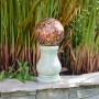 "Alpine 12'"" Tall Roman Column Gazing Globe Stand"
