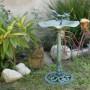 """33"""" Tall Lotus Birdbath & Birdfeeder"""
