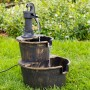"26"" Tall Two Tier Pump & Barrel Fountain"
