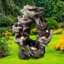Rainforest Tiered Cascading Fountain with LED Lights