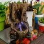 """11"""" Tall Waterfall Tabletop Fountain w/ LED"""