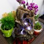 "14"" Tall Alpine Tree Trunk Fountain"